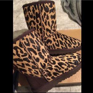 Cheetah Ugg Boots size 5 100% AUTHETIC